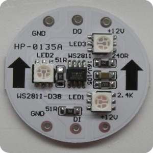 LED modull s WS2811 D38-3