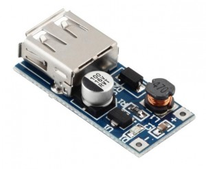 Měnič napětí step-up - 0.9V-5V input, 5V USB Output Boost Regulator Module